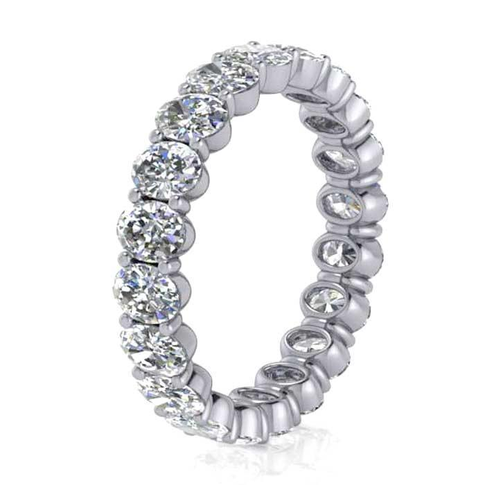 Oval Shared Prong Diamond Eternity Band - 2.40 carat Diamond Eternity Rings deBebians