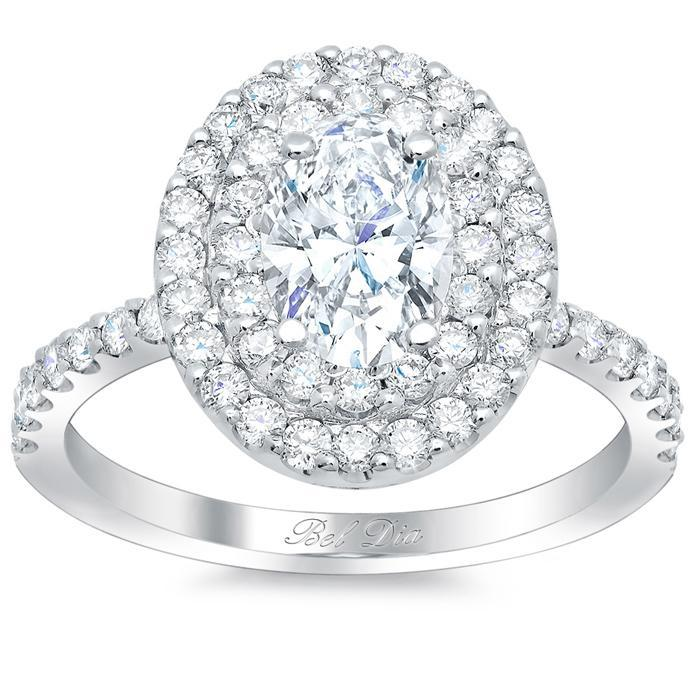 Oval Double Halo Engagement Ring