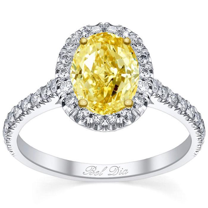 Oval Yellow Diamond Engagement Ring Yellow Diamond Engagement Rings deBebians