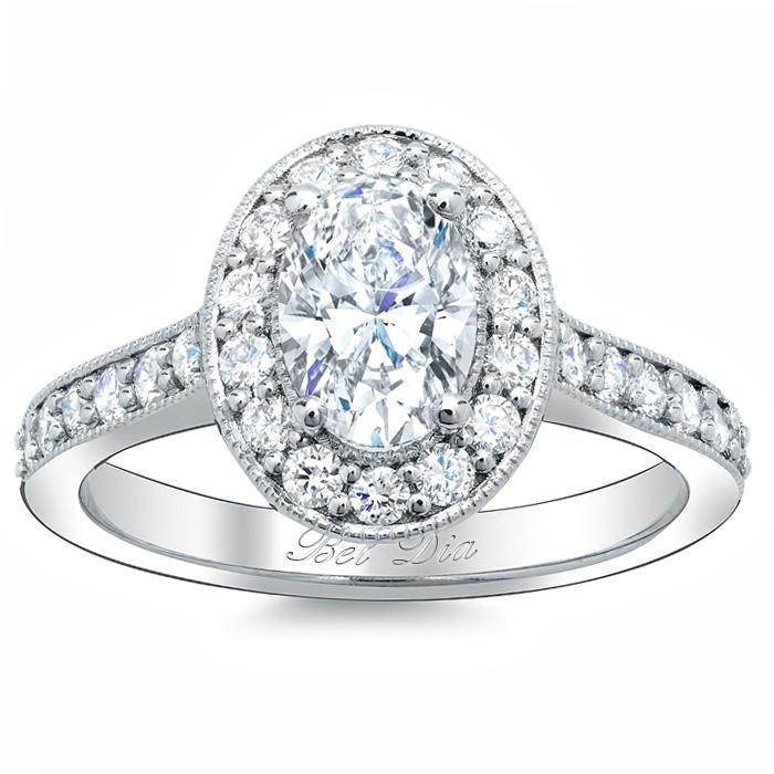 Oval Halo Pave Engagement Ring Setting Halo Engagement Rings deBebians
