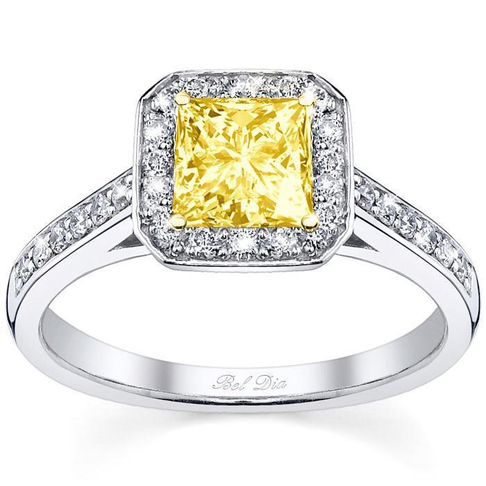 Square Yellow Diamond Engagement Ring Yellow Diamond Engagement Rings deBebians