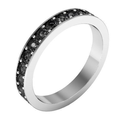 Pave Black Diamond Eternity Ring (1.30 cttw) Gemstone Eternity Rings deBebians