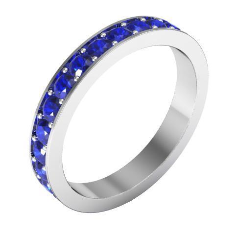 Pave Blue Sapphire Eternity Ring (1.30 cttw)