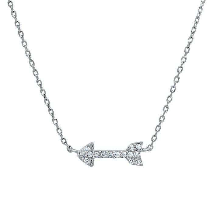 Pave Diamond Arrow Necklace Diamond Necklaces deBebians