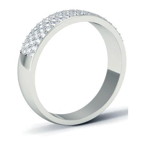 Pave Diamond Band Diamond Wedding Rings deBebians