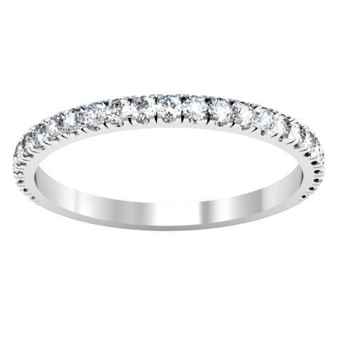 1.5 mm Diamond Wedding Band Half Eternity Rings deBebians