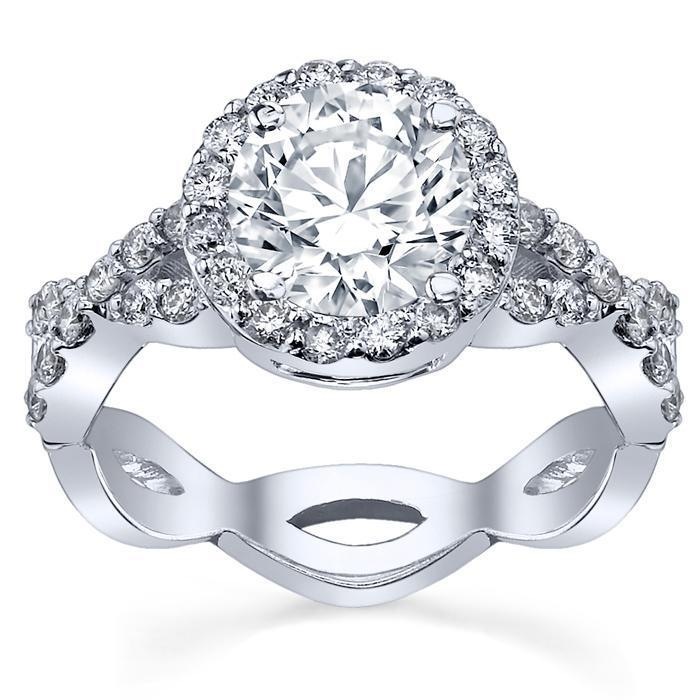 Pave Diamond Infinity Engagement Ring Halo Engagement Rings deBebians