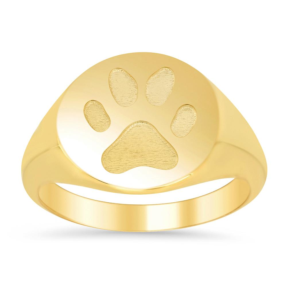 Paw Print Signet Ring for Women Signet Rings deBebians