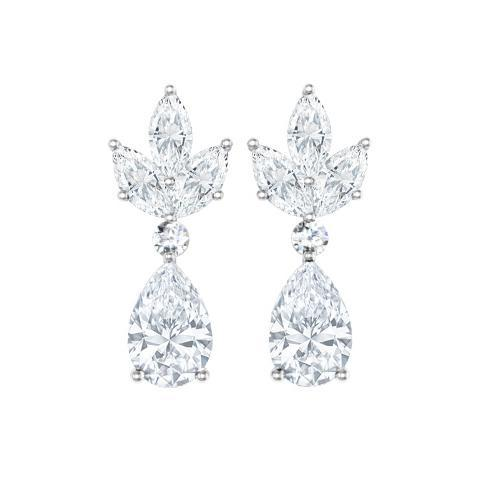 Pear and Marquise Earrings Gift Ideas Over $1500 deBebians
