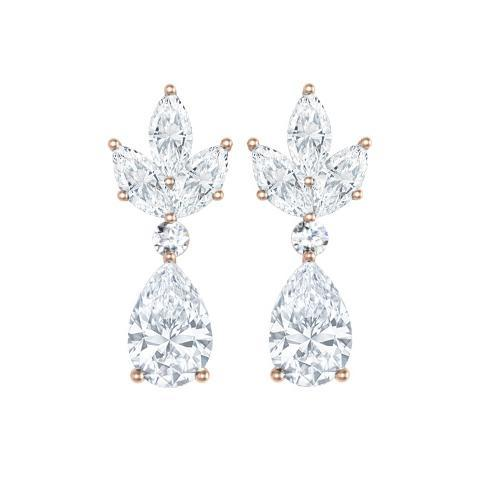 Pear and Marquise Earrings