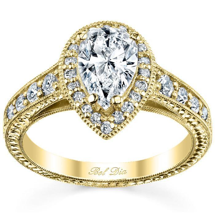 Pear Halo Engagement Ring Halo Engagement Rings deBebians