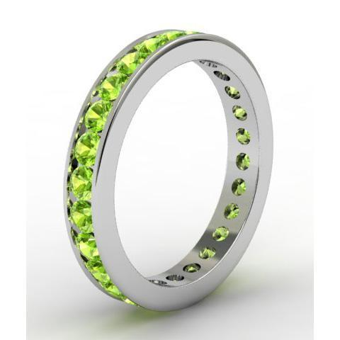 Channel Set Peridot Eternity Ring Gemstone Eternity Rings deBebians