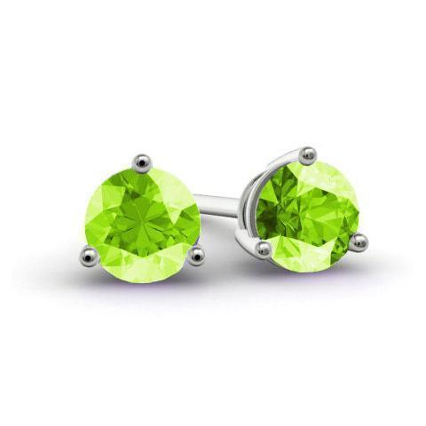 Peridot Stud Earrings Gemstone Stud Earrings deBebians