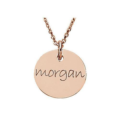 Personalized Gold Disc Necklace Personalized Necklaces deBebians