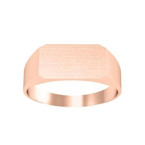 14kt Yellow Gold Personalized Monogram Signet Rings Signet Rings deBebians