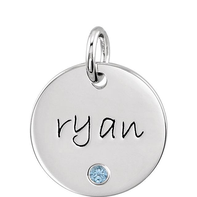 Personalized Name and Birthstone Pendant Necklace Personalized Necklaces deBebians