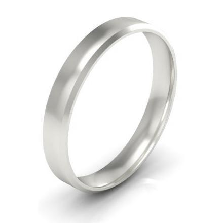 Simple Beveled Wedding Band 3mm Plain Wedding Rings deBebians