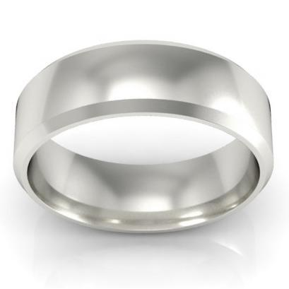 Domed Palladium Wedding Band for Ladies