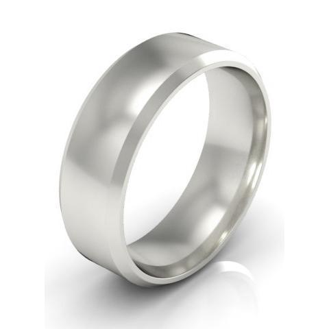 Classic Bevel Ring in 5mm Plain Wedding Rings deBebians