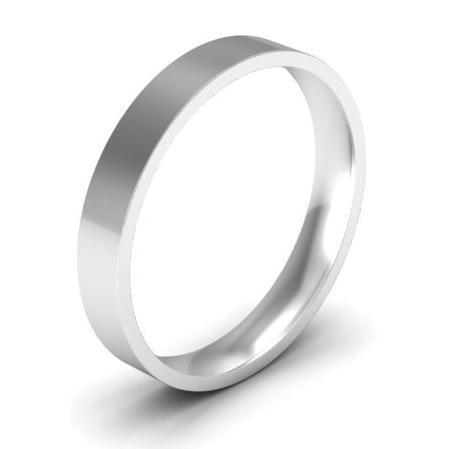 Platinum Wedding Band for Women 3mm Plain Wedding Rings deBebians