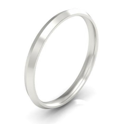 Thin Platinum Knife Edge Ring 2mm
