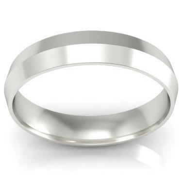 Plain Platinum Knife Edge Wedding Band 4mm