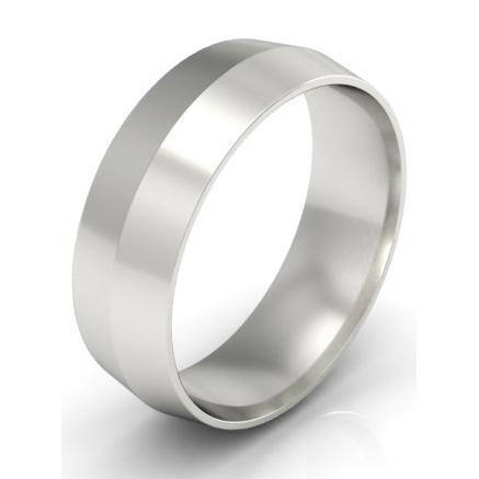 Platinum Knife Edge Ring 6mm