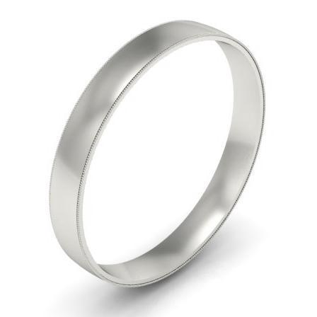 Vintage Style Wedding Ring 3mm Plain Wedding Rings deBebians