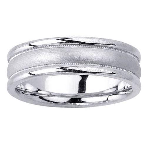 Unique Wedding Ring in Platinum