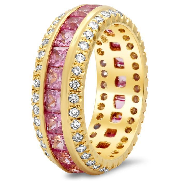 Princess Cut Gemstone Eternity Ring Gemstone Eternity Rings deBebians