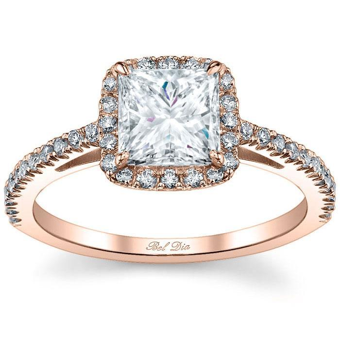 Princess Cut Halo Engagement Ring Halo Engagement Rings deBebians