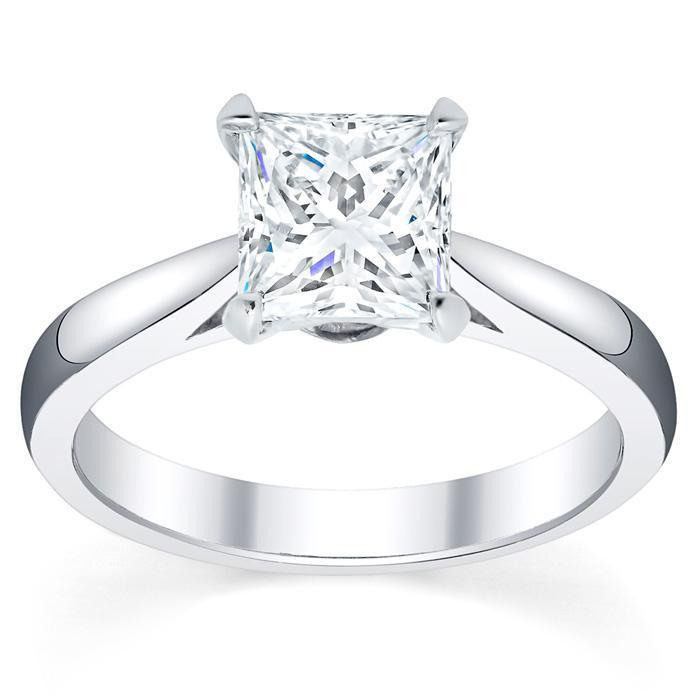 Round Cut Trellis Solitaire Diamond Ring 3.5mm
