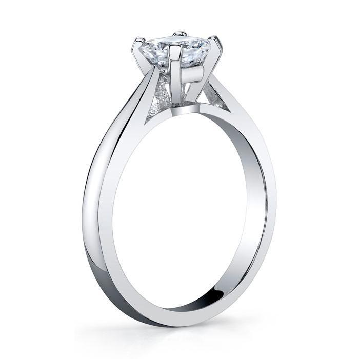 2.7mm Princess Open Tapered Solitaire Setting Solitaire Engagement Rings deBebians