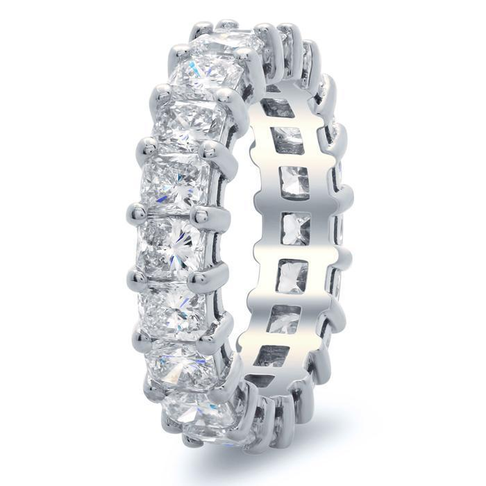 Radiant Cut Shared Prong Diamond Eternity Band - 4.00 carat - SI Clarity Diamond Eternity Rings deBebians