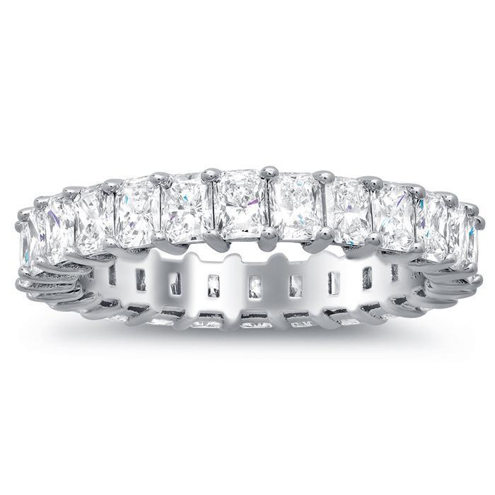 Radiant Cut Shared Prong Diamond Eternity Band - 2.00 carat - SI Clarity Diamond Eternity Rings deBebians