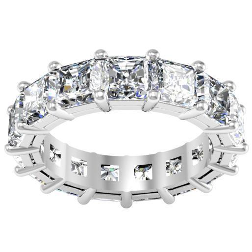 Radiant Cut Shared Prong Diamond Eternity Band - 7.00 carat-SI Clarity Diamond Eternity Rings deBebians