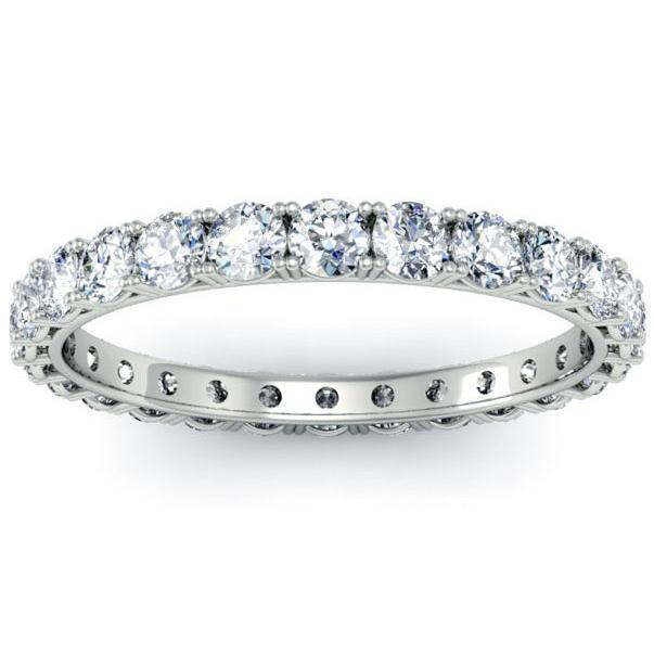 1.00cttw Round Four Prong Diamond Eternity Band Diamond Eternity Rings deBebians