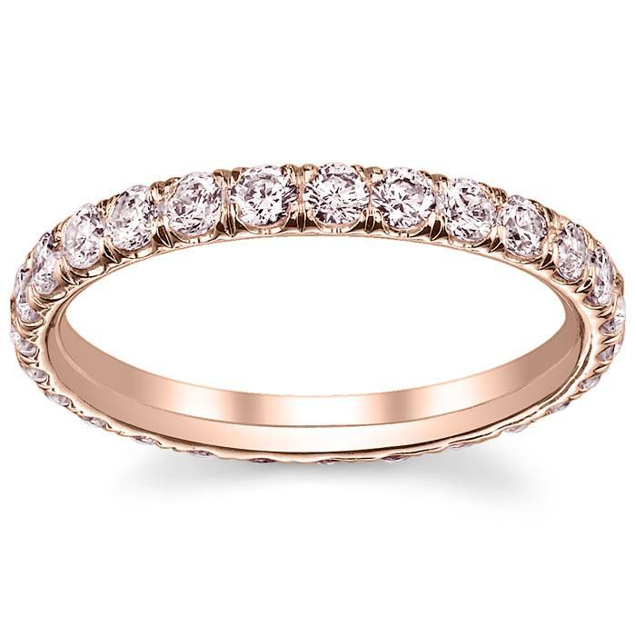 Rose Gold Pink Diamond Eternity Ring Gemstone Eternity Rings deBebians