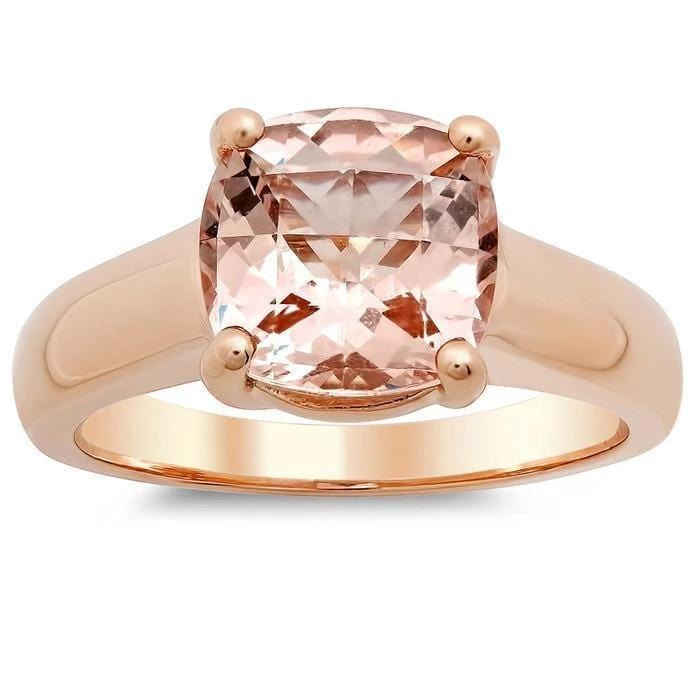 Morganite Trellis Solitaire Ring