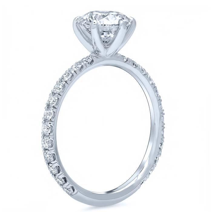 Round Pave Engagement Ring