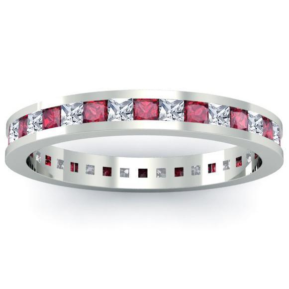 Ruby and Diamond Eternity Ring Gemstone Eternity Rings deBebians