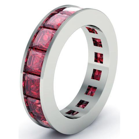 Ruby Birth Stone Eternity Band Gemstone Eternity Rings deBebians
