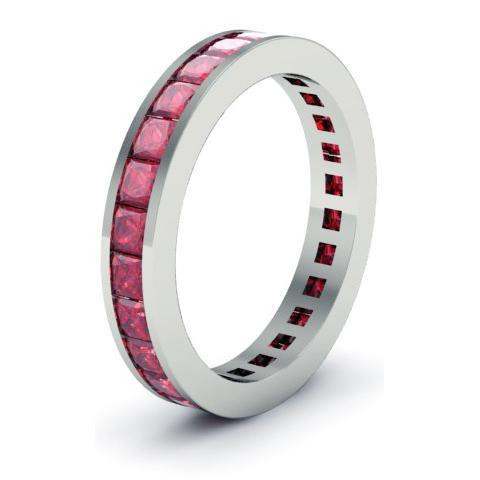 Ruby Eternity Anniversary Ring Gemstone Eternity Rings deBebians