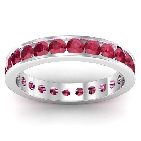 Ruby Eternity Band in Channel Setting Gemstone Eternity Rings deBebians