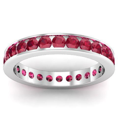 Ruby Eternity Ring in Channel Setting Gemstone Eternity Rings deBebians