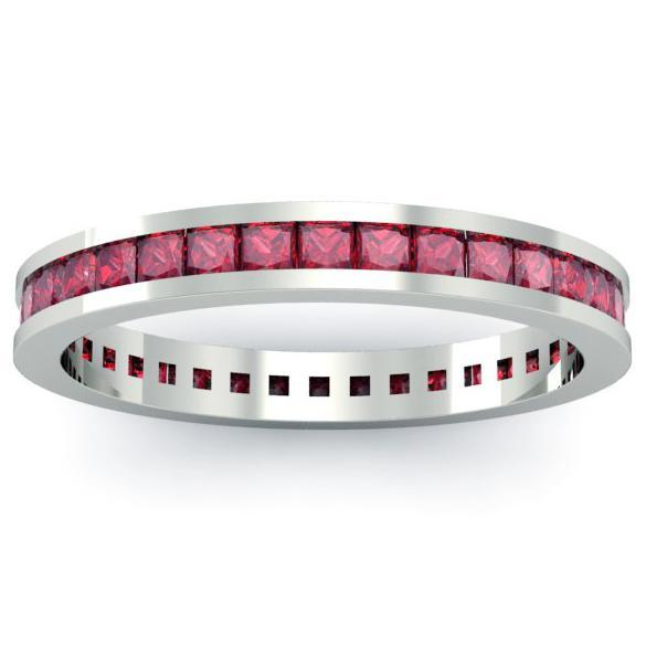 Ruby Eternity Ring Gemstone Eternity Rings deBebians