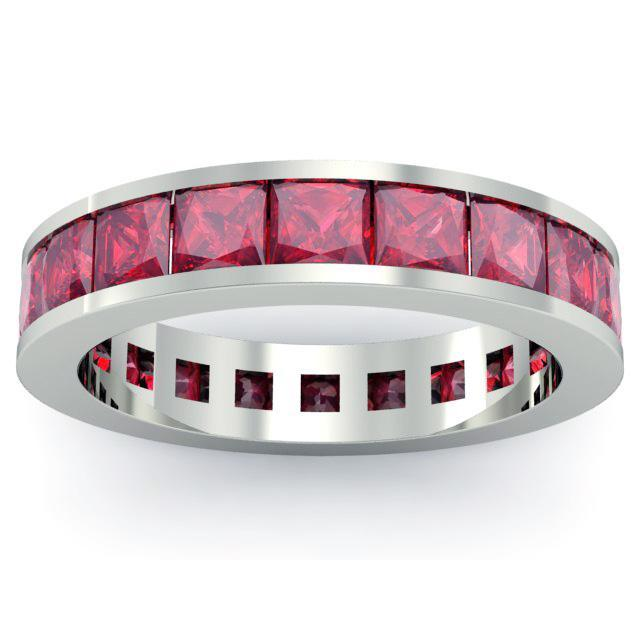 Ruby Gemstone Eternity Band Gemstone Eternity Rings deBebians
