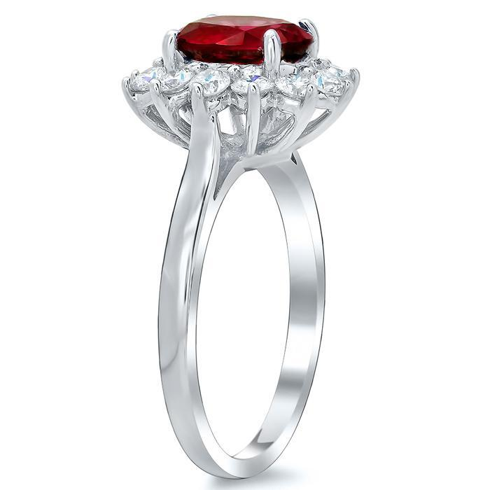 Ruby Halo Engagement Ring Ruby Engagement Rings deBebians