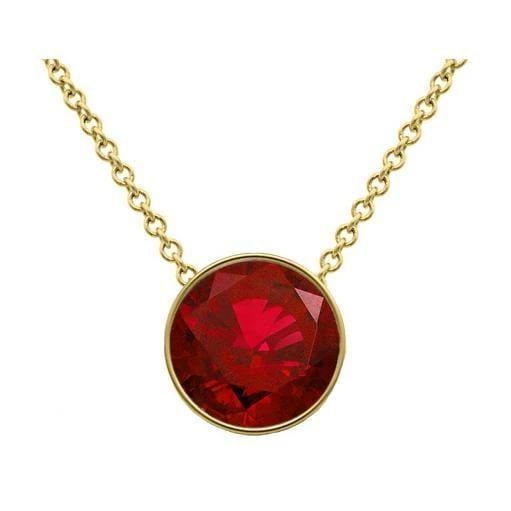 Ruby Solitaire Pendant Solitaire Necklaces deBebians