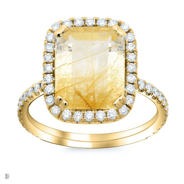 Rutilated Quartz Ring Gift Ideas Over $1500 deBebians